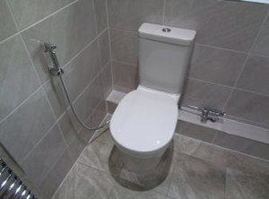 illustration utilisation douchette wc